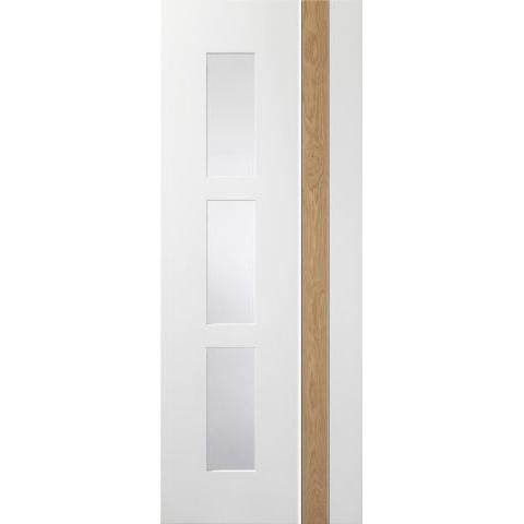 XL Joinery Praiano White/Rustic Oak with clear glass