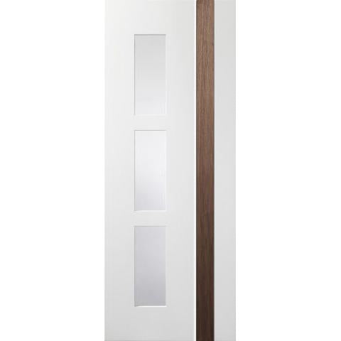 XL Joinery Praiano White/Walnut with clear glass