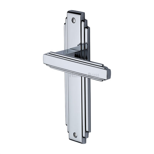 Astoria Art Deco Lever Latch (Polished Chrome)