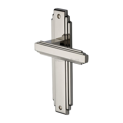 Astoria Art Deco Lever Latch (Polished Nickel)