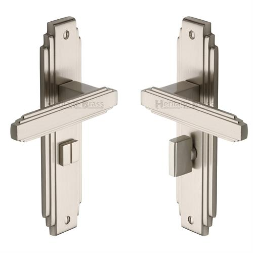 Astoria Art Deco Bathroom Handle (Satin Nickel)
