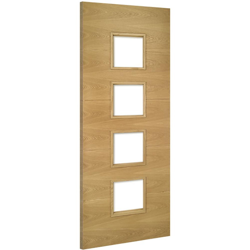 Unglazed Oak Augusta Fire door