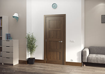 Deanta Walnut Coventry Shaker style door