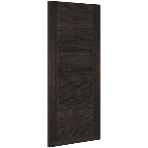 Dark grey ash real wood veneer, Crown cut veneer, 32mm can be taken of the width and height of the door, Solid core, Pre-finished Covered by Deanta 10 year warranty, Bespoke sizes available, Fire door option available (44mm thick)