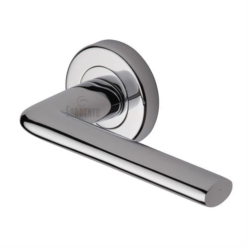 M.Marcus Lena Handle on Round Rose, Polished Chrome