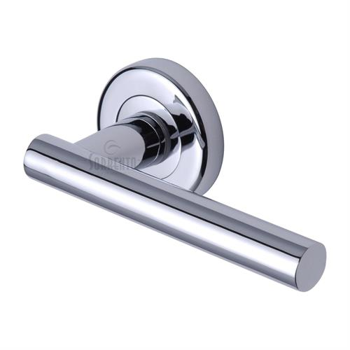 M.Marcus Shuttle Handle on Round Rose , Polished Chrome