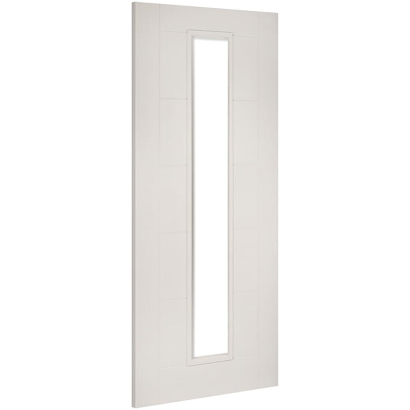 Deanta White Seville 1 light with clear toughened glass