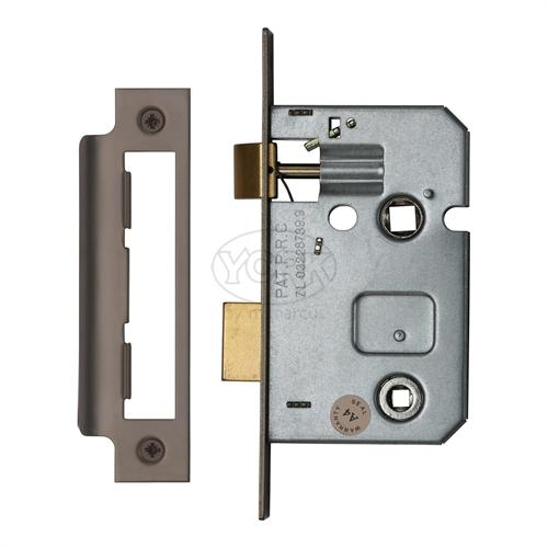 "M.Marcus Matt Bronze Finish 2.5"" Bathroom lock (bolt through)"