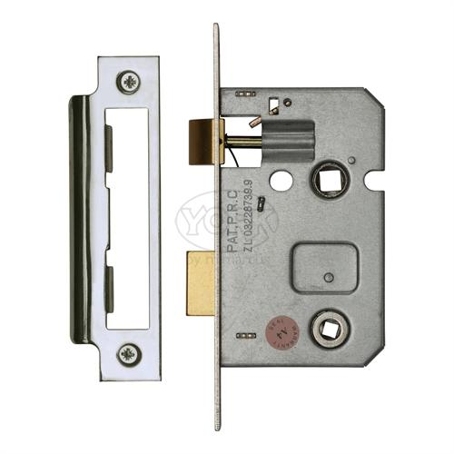 "M.Marcus Polished Chrome/Nickel Finish 2.5"" Bathroom lock (bolt through)"