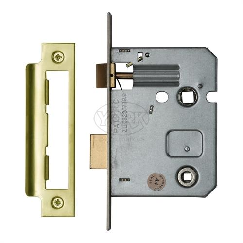 "M.Marcus Brass Finish 3"" Bathroom lock (bolt through)"