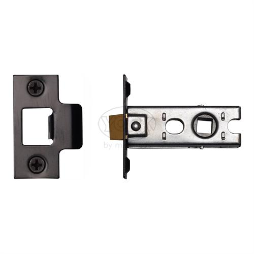 "M.Marcus Black Finish 2.5"" Standard duty tubular latch (bolt through)"