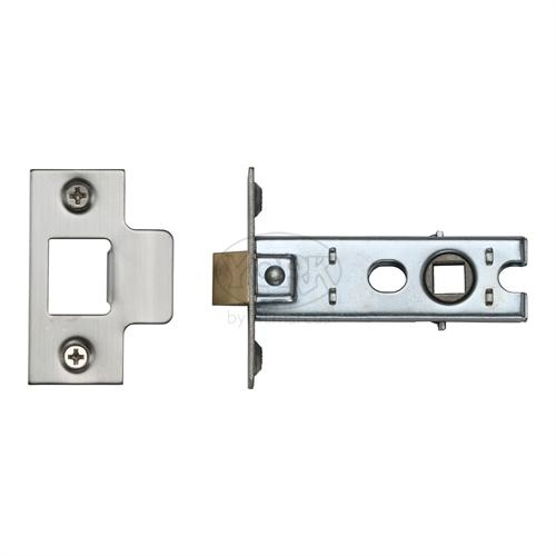 "M.Marcus Satin Chrome/ Nickel Finish 3"" Standard duty tubular latch (bolt through)"
