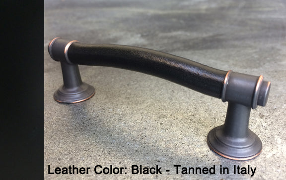 "3"" New York City Cabinet Pull in Black with Bronze/Copper Highlights Finish"