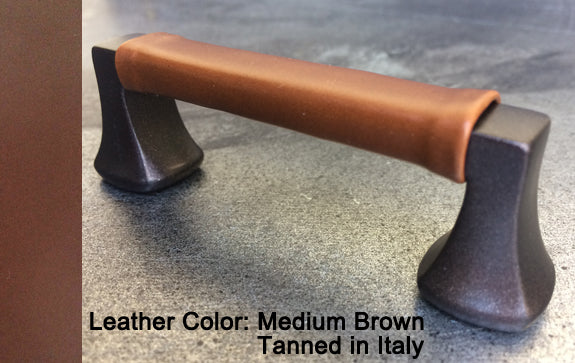 "5"" Minneapolis Cabinet Pull in Black with Bronze Sparkles Finish"