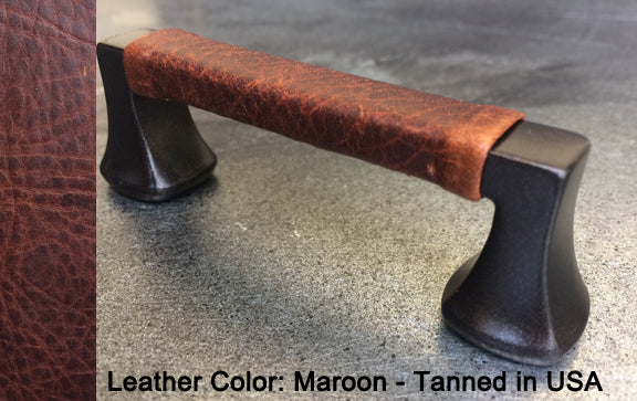 "6-1/4"" Minneapolis Cabinet Pull in Black with Bronze Sparkles Finish"
