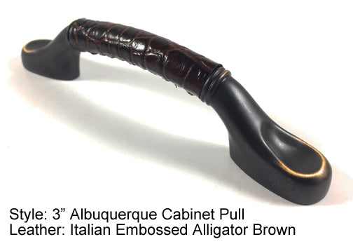 "3"" Albuquerque Cabinet Pull in Black with Gold Highlights Finish"