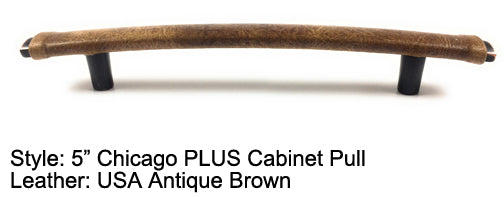 "5"" Chicago PLUS Cabinet Pull in Black with Bronze/Copper Highlights Finish"