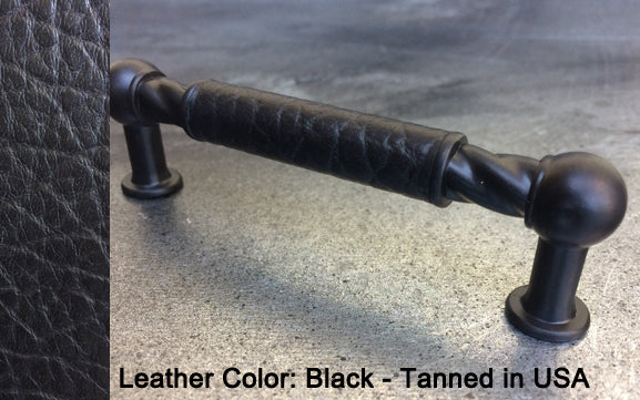 "3-3/4"" San Antonio Cabinet Pull in Matt Black Finish"