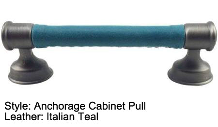"3"" or 3-3/4"" Anchorage Cabinet Pull in Heirloom Silver/Nickel Finish"