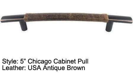 "5"" Chicago Cabinet Pull in Black with Bronze/Copper Highlights Finish"