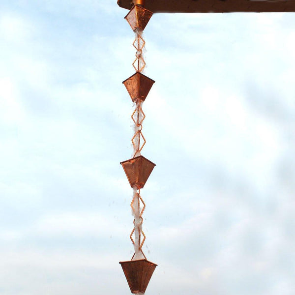 Monarch Rain Chains Pure Copper Heirloom Rain Chain 8.5 ft. Rain Chains > Copper Monarch Abode