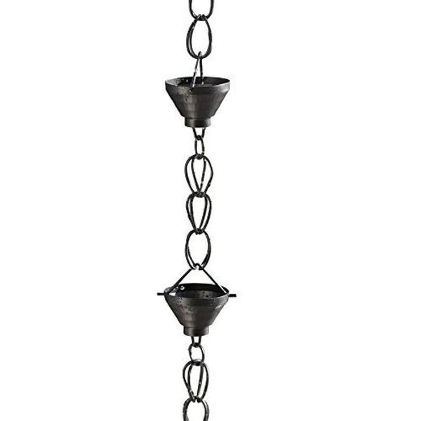 Monarch Rain Chains Aluminum Black Powder Coated Siam Rain Chain 8.5 ft. Rain Chains > Aluminum Monarch Abode