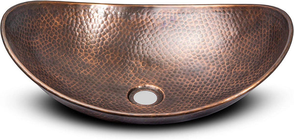 Monarch Pure Copper Hand Hammered Harbor Vessel Bathroom Sink Monarch Abode