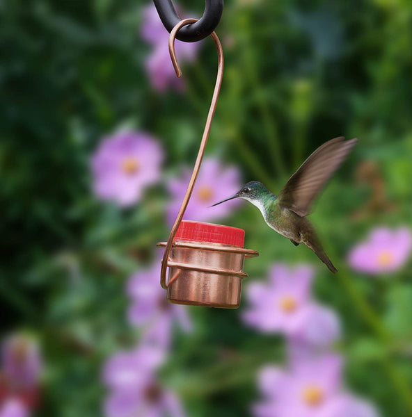 Monarch Abode Pure Copper Single Hummingbird Feeder Monarch Abode