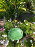Monarch Abode Handcrafted Seafoam Green Oasis Hanging Bird Bath Bird Feeder Monarch Abode