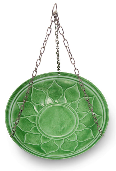 Monarch Abode Handcrafted Seafoam Green Oasis Hanging Bird Bath Bird Feeder Garden Decor > Bird Baths > Metal Monarch Abode