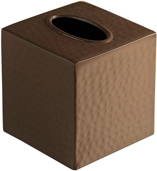 Monarch Abode Hand Hammered Metal Beaver Brown Tissue Box Cover Bathroom Collection > Tissue Box Cover Monarch Abode