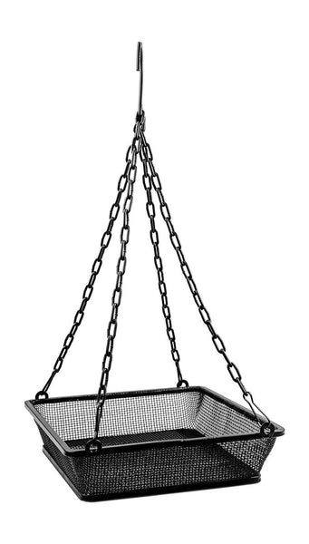 Monarch Abode Black Hanging Bird Feeder Mesh Seed Tray Garden Decor > Stakes >Bird Baths / Bird Feeders / Flower Pots / Lamps & Lanterns / Garden Decor Monarch Abode