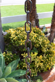 Monarch Aluminum Black Powder Coated Traditional Link Rain Chain, 8.5 Ft Length Rain Chains > Aluminum Monarch Abode