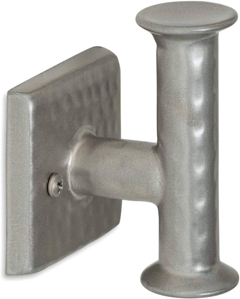 Monarch Abode Pewter Hand Hammered Single Towel Hook