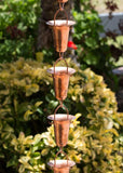Monarch Rain Chains Pure Copper Funnel Rain Chain 8.5 ft.