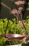 Monarch Abode™ Pure Copper Hand Hammered Hanging Bird Bath