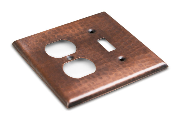 Monarch Pure Copper Hammered Single Switch / Duplex Wall Plate / Switch Plate Hardware > Wall Plates > Copper Monarch Abode