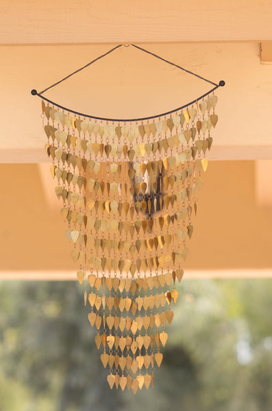 Monarch Pure Brass Tinkling Leaves Wind Chime Garden Decor > Wind Chimes > Brass Monarch Abode