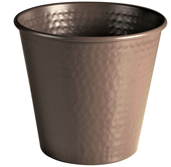 Monarch Abode Hand Hammered Metal Beaver Brown Wastebasket Trash Bin Bathroom Collection > Wastebasket Monarch Abode