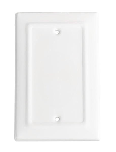 Monarch Abode Architectural Classic White Blank Wall Plate / Switch Plate