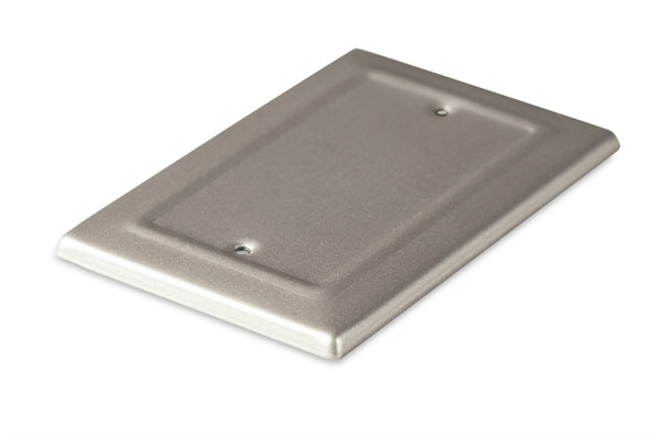 Monarch Abode Architectural Pewter Blank Wall Plate / Switch Plate