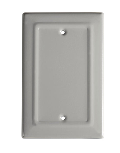 Monarch Abode Architectural Dove Gray Blank Wall Plate / Switch Plate Hardware > Wall Plates > Metal Monarch Abode