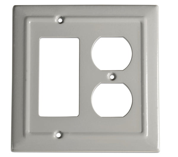 Monarch Abode Architectural Dove Gray Rocker Duplex Wall Plate / Switch Plate