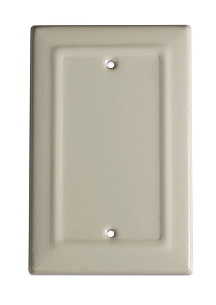 Monarch Abode Architectural Desert Clay Blank Wall Plate / Switch Plate Hardware > Wall Plates > Metal Monarch Abode