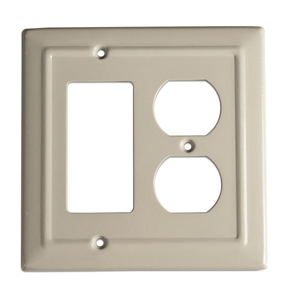 Monarch Abode Architectural Desert Clay Rocker Duplex Wall Plate / Switch Plate Hardware > Wall Plates > Metal Monarch Abode
