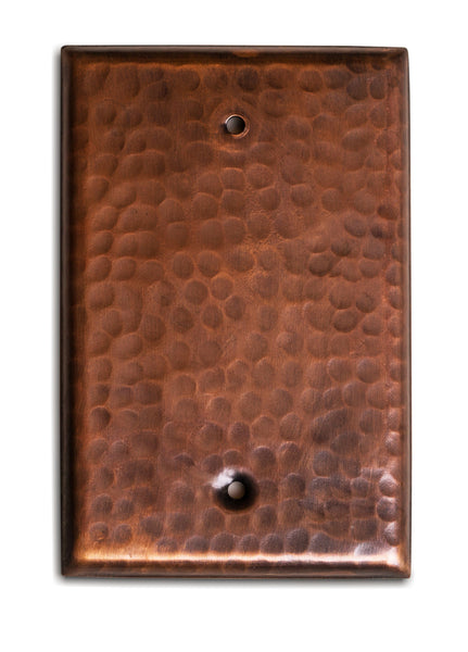 Monarch Pure Copper Hammered Blank Wall Plate / Switch Plate