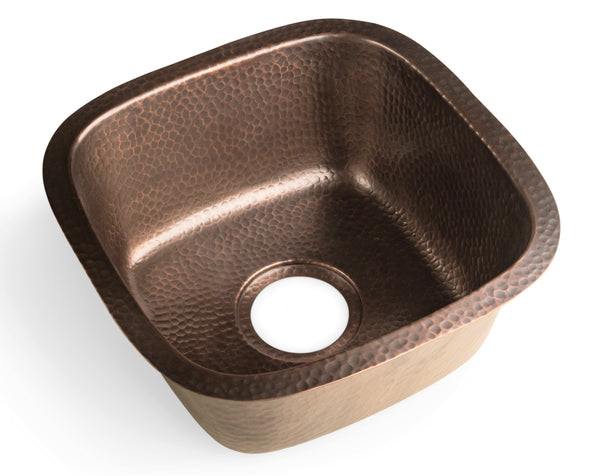 Monarch Abode Pure Copper Hand Hammered Atlas Dual Mount Bar Prep Sink (15 inches) Sinks > Bar/Kitchen > Copper Monarch Abode