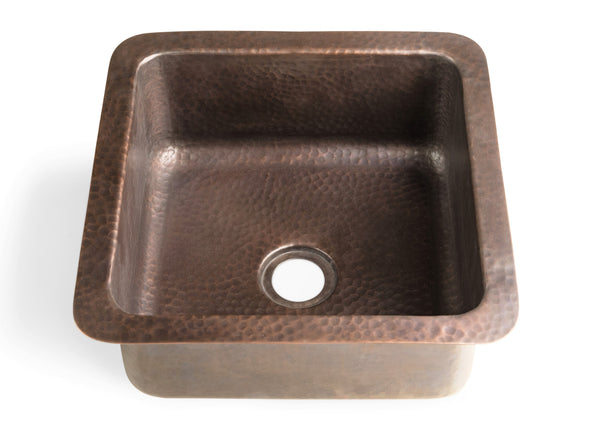 Monarch Abode Pure Copper Hand Hammered Glasgow Dual Mount Bar Prep Sink (12 inches) Sinks > Bar/Kitchen > Copper Monarch Abode