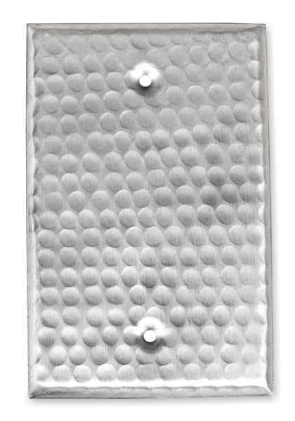 Monarch Nickel Hammered Blank Wall Plate / Switch Plate