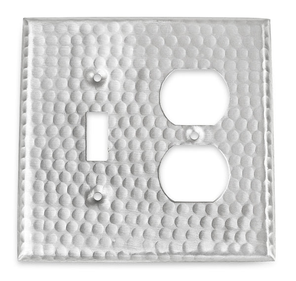 Monarch Nickel Hammered Single Switch / Duplex Wall Plate / Switch Plate